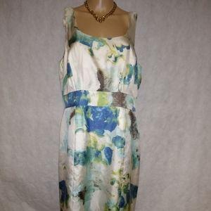 Banana Republic Multicolor Floral Dress Size 14 NW